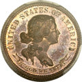 Patterns, 1870 10C Standard Silver Ten Cents, Judd-869, Pollock-965, High R.7, PR65 Red and Brown PCGS Secure. CAC....