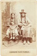 American Indian Art:Photographs, CROOKED FACE FAMILY, CROW INDIANS, CABINET CARD BY DAVID F. BARRY,BISMARCK, DAKOTA TERRITORY MOUNT...
