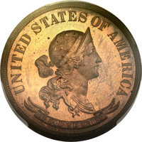 1869 50C Standard Silver Half Dollar, Judd-751, Pollock-834, Low R.7, PR65 Red and Brown PCGS Secure....(PCGS# 70980)