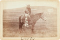 American Indian Art:Photographs, LONG DOG, SIOUX INDIAN, CABINET CARD BY DAVID F. BARRY, BISMARCKAND STANDING ROCK, DAKOTA TERRITORY MOUNT...