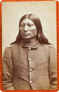 American Indian Art:Photographs, SHARP NOSE, ARAPAHO, CABINET CARD BY BAKER & JOHNSTON,EVANSTON, WYOMING...