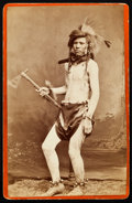 American Indian Art:Photographs, LEAPING PANTHER, SHOSHONE, CABINET CARD BY BAKER & JOHNSTON,EVANSTON, WYOMING...