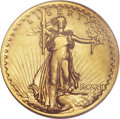 High Relief Double Eagles, 1907 $20 High Relief, Wire Rim VF30 PCGS....