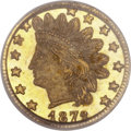 California Fractional Gold, 1872/1 25C Indian Round 25 Cents, BG-868, High R.4, MS66 PCGS....