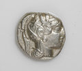 Ancients:Greek, Ancients: Attica, Athens. Ca. 449-413 B.C. AR tetradrachm (23 mm,16.79 g). Helmeted head of Athena right / Owl standing right, headf...