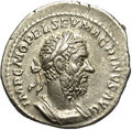 Ancients:Roman, Ancients: Macrinus. A.D. 217-218. AR denarius (20 mm, 2.86 g).Rome. Laureate and cuirassed bust right, with long beard / Fidesstandi...