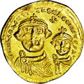 Ancients:Byzantine, Ancients: Heraclius, with Heraclius Constantine. A.D. 613-632 AD.AV solidus (19 mm, 4.37 g). Constantinople, A.D. 616-625. Crownedan...