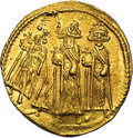 Ancients:Byzantine, Ancients: Heraclius, with Heraclius Constantine and Heraclonas.A.D. 610-641. AV solidus (20 mm, 4.38 g). Constantinople, A.D.639-641...