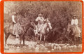 American Indian Art:Photographs, CHIEF WASHAKIE MOUNTED ON HORSEBACK, CABINET CARD BY BAKER &JOHNSTON, EVANSTON, WYOMING...