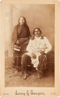 American Indian Art:Photographs, SINBOW AND WIFE, BOUDOIR PHOTO BY LENNY AND SAWYERS, PURCELL,INDIAN TERRITORY...