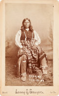 American Indian Art:Photographs, KAH-A-MO, TONKAWA TRIBE, BOUDOIR PHOTO BY LENNY AND SAWYERS,PURCELL, INDIAN TERRITORY...