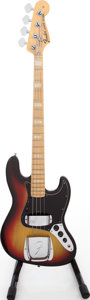 Musical Instruments:Bass Guitars, 1973 Fender Jazz Bass Sunburst Electric Bass Guitar, Serial #698834....