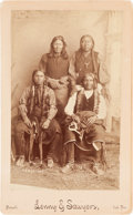 American Indian Art:Photographs, COMANCHE INDIANS, BOUDOIR PHOTO BY LENNY AND SAWYERS, PURCELL,INDIAN TERRITORY...