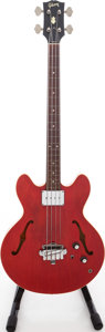 Musical Instruments:Bass Guitars, 1960s Gibson EB-2C Cherry Semi-Hollow Electric Bass Guitar, Serial 3 409848....