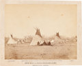 American Indian Art:Photographs, MOW-WAY OR HAND SHAKERS CAMP, COMANCHE INDIANS, IMPERIAL PHOTO BYWILL SOULE, FORT SILL, INDIAN TERRITORY...