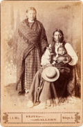 American Indian Art:Kachina Dolls, BRAVE BEAR AND FAMILY, CHEYENNE INDIANS, CABINET CARD BY . E.B.SNELL, WELLINGTON, KANSAS...