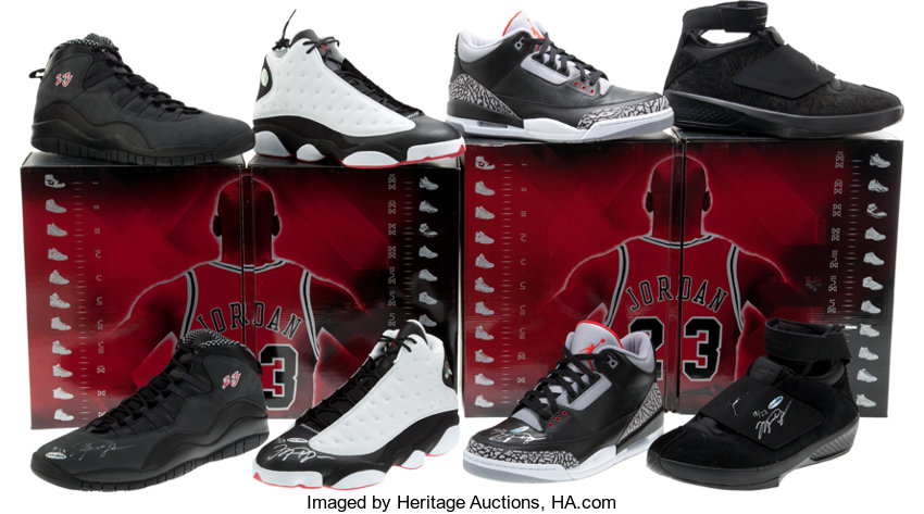 save off eee42 b77f9 ... Basketball Collectibles Others, Michael Jordan Air Jordan Countdown  Pack Collezione With Four UDASigned Shoes ...