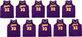 Autographs:Jerseys, 2000's Magic Johnson Signed Los Angeles Lakers Jersey Lot of 10. ...