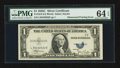 Error Notes:Obstruction Errors, Fr. 1612 $1 1935C Silver Certificate. PMG Choice Uncirculated 64EPQ.. ...
