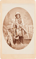 American Indian Art:Photographs, SAN JUAN, MESCALERO APACHE CHIEF, CABINET CARD BY WITTICK &RUSSELL, ALBUQUERQUE, NEW MEXICO...
