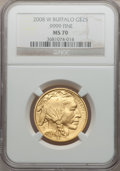 Modern Bullion Coins, 2008-W G$25 Buffalo MS70 NGC. Ex: .9999 Fine. NGC Census: (0). PCGSPopulation (310). (#399930)...