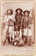 American Indian Art:Photographs, APACHE SCOUTS, CABINET CARD BY ANDREW MILLER...