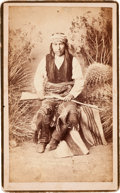 American Indian Art:Photographs, KA-E-TE NAY, HEAD CHIEF WARM SPRINGS APACHES, BOUDOIR PHOTO BY A.FRANK RANDALL...