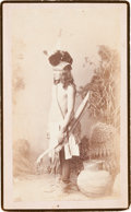 American Indian Art:Photographs, TONTO APACHE WARRIOR, BOUDOIR PHOTO BY A. FRANK RANDALL...