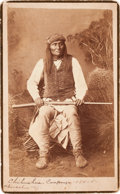 American Indian Art:Photographs, MANGAS, WARM SPRINGS APACHE CHIEF, BOUDOIR PHOTO BY A. FRANKRANDALL. ...