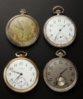 Timepieces:Pocket (post 1900), Four 12 Size Pocket Watches . ... (Total: 4 Items)