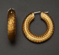 Estate Jewelry:Earrings, 18k Gold Hoop Earrings. ...