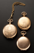 Timepieces:Pocket (post 1900), Two Hampden's & One Illinois Hunter Case Pocket Watches. ... (Total: 3 Items)