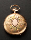 Timepieces:Pocket (post 1900), Waltham Multi-Color Gold Filled Hunter's Case Pocket Watch. ...