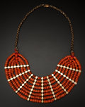 Estate Jewelry:Earrings, Early Coral & Gold Necklace. ...
