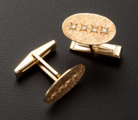 Estate Gold & Diamond Cufflinks