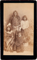 American Indian Art:Photographs, FRANK YUMA AND FAMILY, APACHE, BOUDOIR PHOTO BY A. FRANK RANDALL...