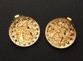 Estate Jewelry:Earrings, Estate 18k Gold Earrings. ...