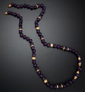 Estate Jewelry:Necklaces, Amethyst & Gold Bead Necklace. ...