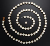 Cultured Pearl & Gold Necklace