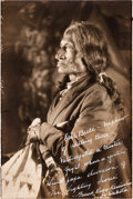 American Indian Art:Photographs, ONE BULL, SIOUX, UNMOUNTED PRINT...