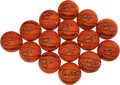 Basketball Collectibles:Balls, Ray Allen Signed Mini Basketballs Lot of 15. ...
