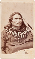 American Indian Art:Photographs, STANDING BEAR, PONCA INDIAN, CARTE-DE-VISITE PHOTO BY WILLIAM HENRYJACKSON...