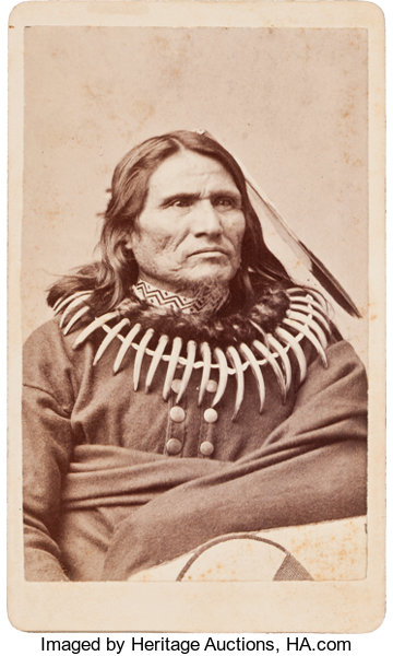 American Indian ArtPhotographs STANDING BEAR PONCA INDIAN CARTE DE