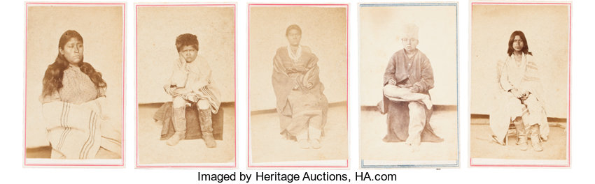 American Indian ArtPhotographs RARE PORTRAITS OF NAVAJO INDIANS TEN CARTE DE