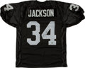 Football Collectibles:Uniforms, Bo Jackson Signed Los Angeles Raiders Jersey. ...