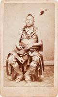 American Indian Art:Photographs, PAWNEE INDIAN, CARTE-DE-VISITE PHOTO BY WYLIE B. BROWN,. TAMA CITY,IOWA. ...