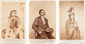 American Indian Art:Photographs, MINNESOTA SIOUX UPRISING OF 1862, LOT OF THREE CARTE-DE-VISITEPHOTOS BY JOEL E. WHITNEY, ST. PAUL, MINNESOTA. ... (Total: 3Items)