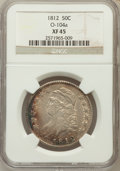 Bust Half Dollars: , 1812 50C XF45 NGC. O-104a. NGC Census: (85/544). PCGS Population(108/499). Mintage: 1,628,059. Numismedia Wsl. Price for ...