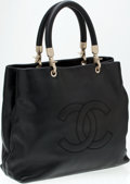 Luxury Accessories:Bags, Heritage Vintage: Chanel Black Caviar Leather Tote with RolledHandles. ...