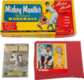 Baseball Collectibles:Others, Ted Williams Signed Coin, Musial Signed Book and Mantle Big LeagueBaseball Game. ...